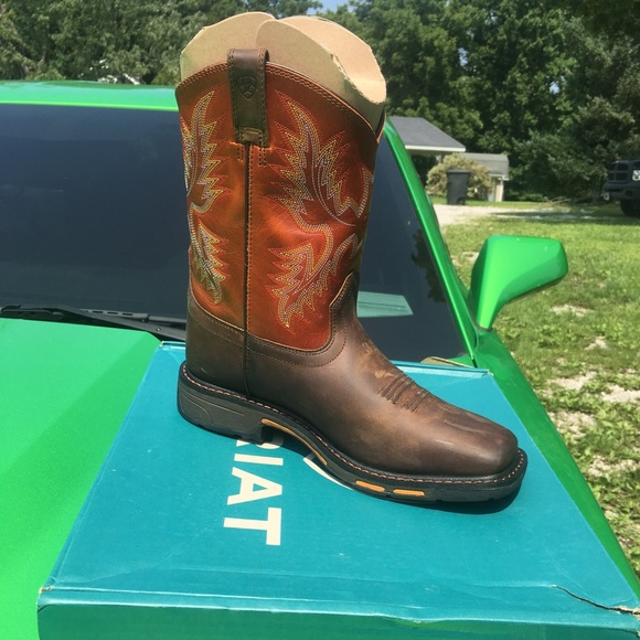 3f7f972836f Ariat Shoes | Kids Workhog Wide Square Toe Boot | Poshmark